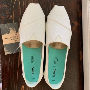 TOMS Venice Collection Classic Ivory Glitter